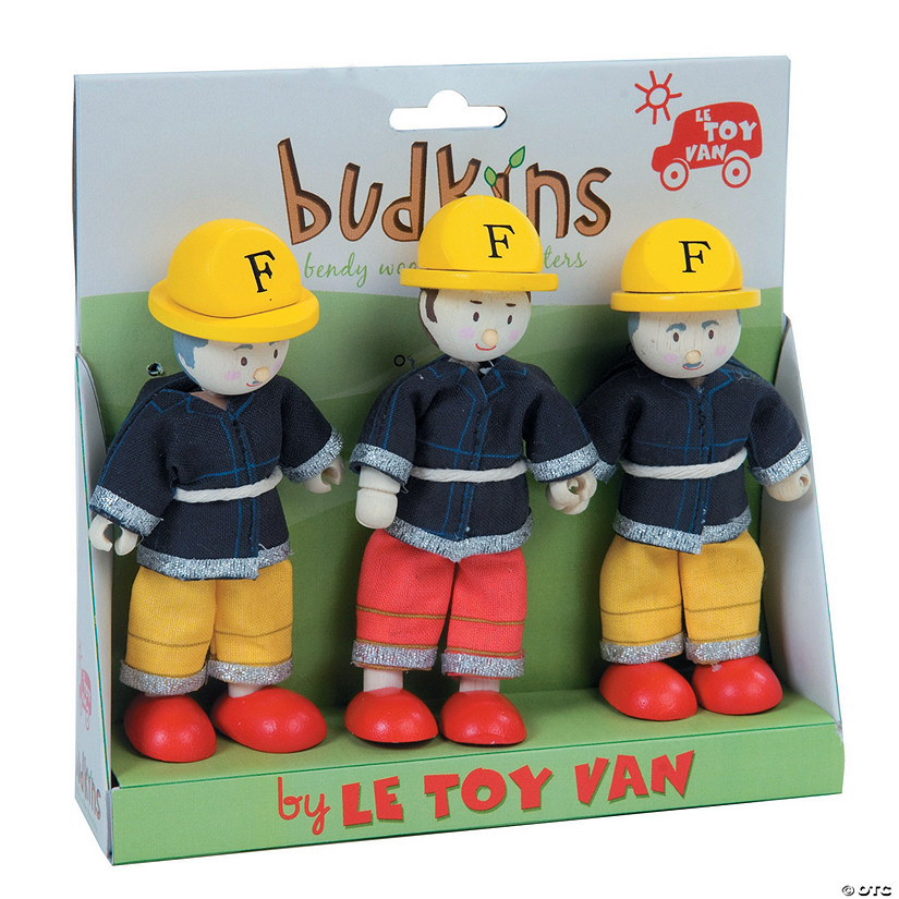 Firefighters Budkins Character Dolls