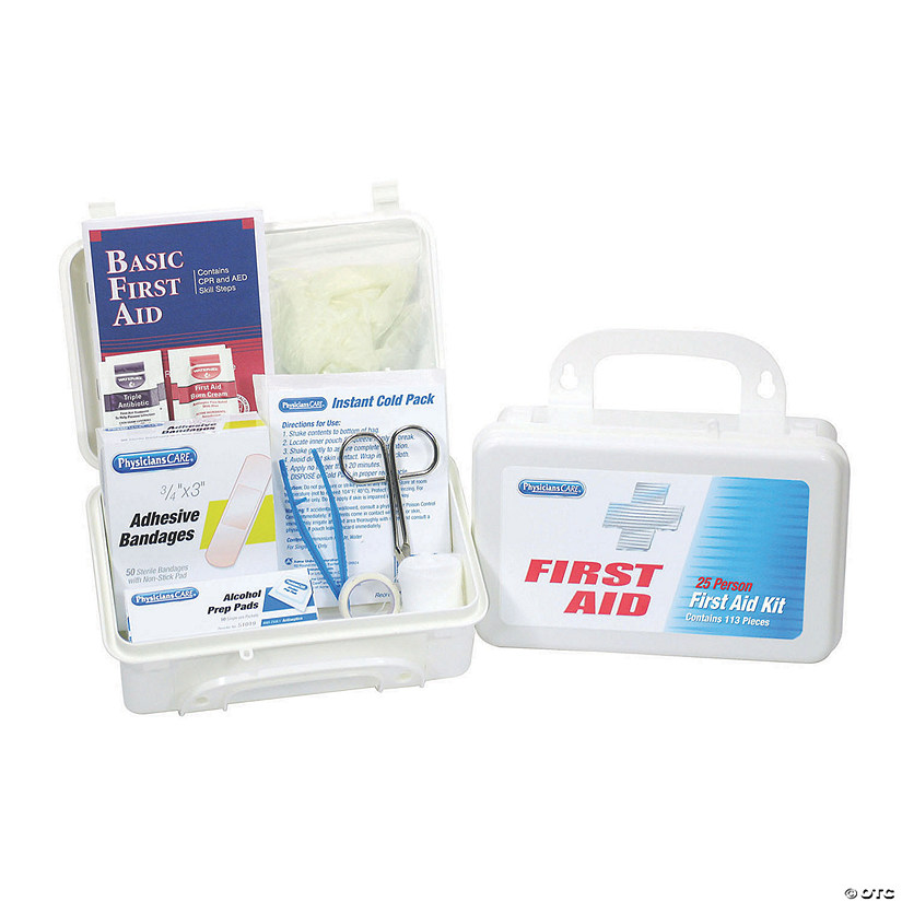 First Aid Only® 25 Person First Aid Kit, 113 Pieces Audio Thumbnail