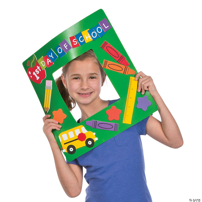 First Day Of School Picture Frame Craft Kit Discontinued