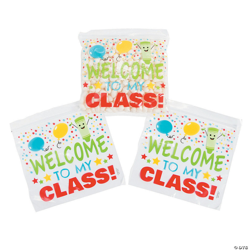 First Day of School Resealable Treat Bags Image Thumbnail