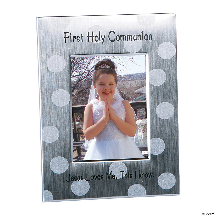 First Holy Communion Polka Dot Picture Frame