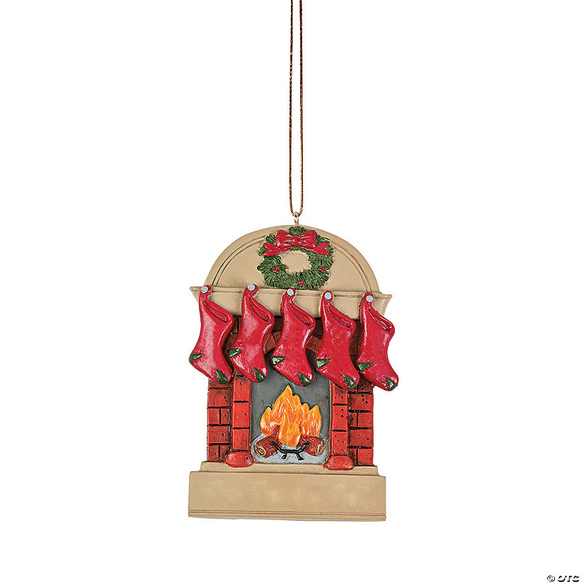 Five Stockings Christmas Ornament