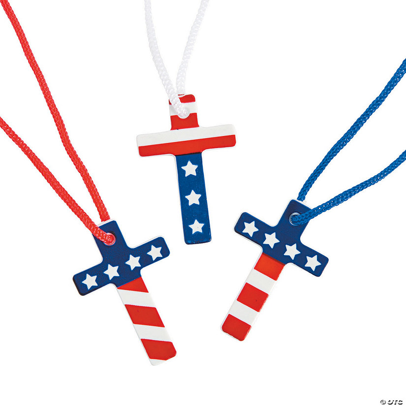 Flag Cross Necklaces