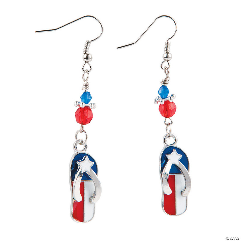 Flag Flip Flop Earrings Craft Kit Audio Thumbnail