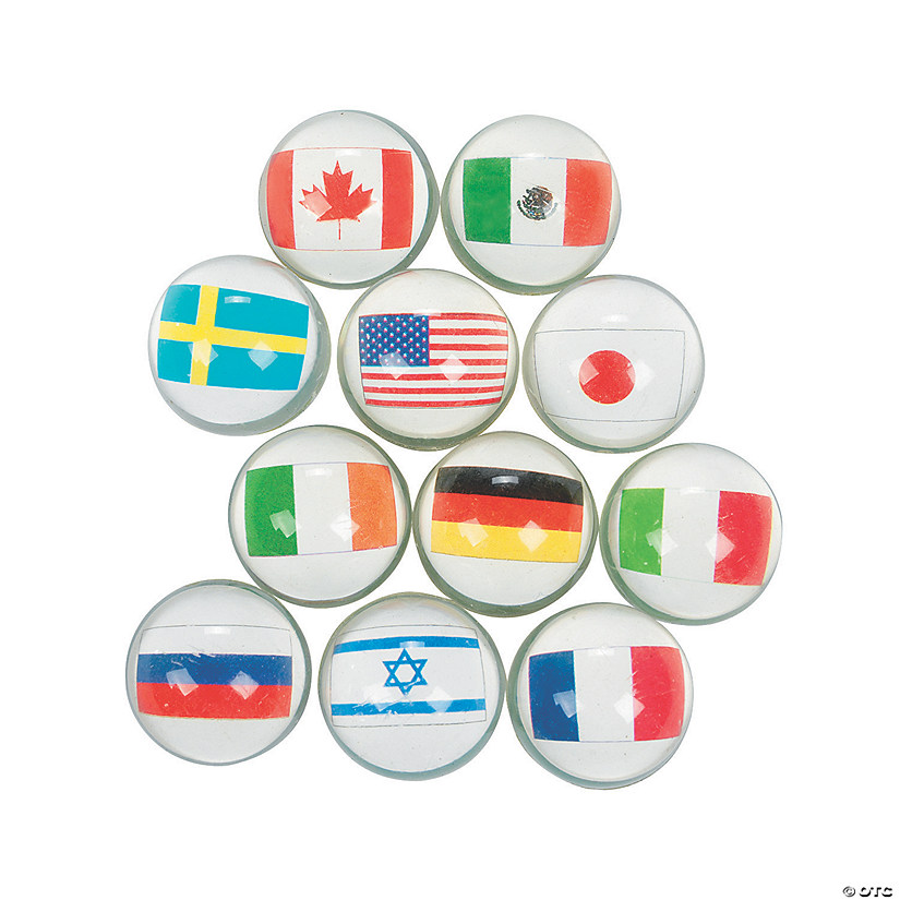 Flags Around the World Bouncy Ball Assortment Audio Thumbnail