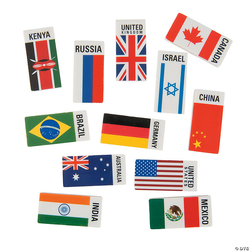 Flags Around the World Erasers Audio Thumbnail