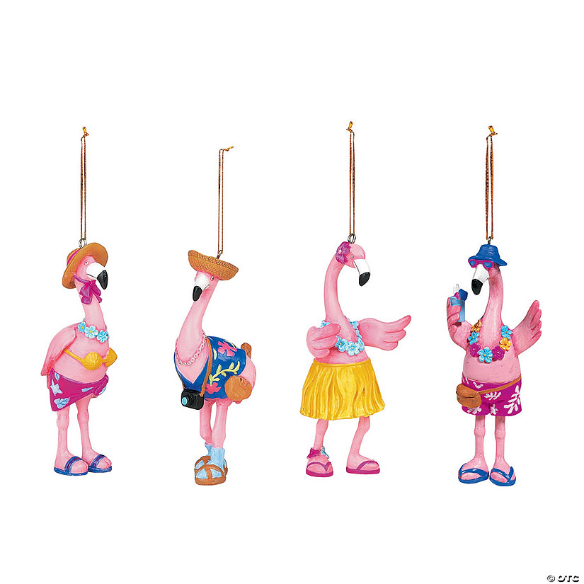 flamingo christmas ornaments - Flamingo Christmas Decorations