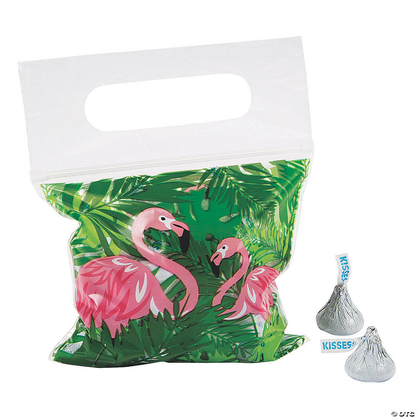 Flamingo Resealable Treat Bags Image Thumbnail