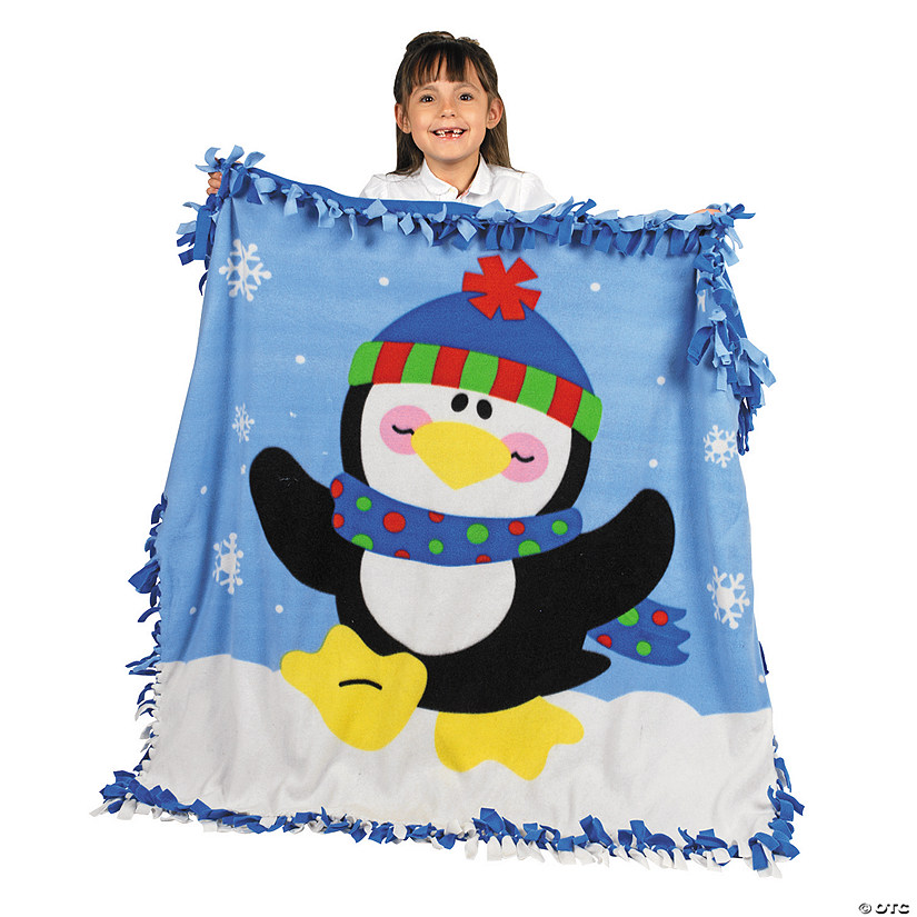 Fleece Penguin Tied Throw Craft Kit Audio Thumbnail