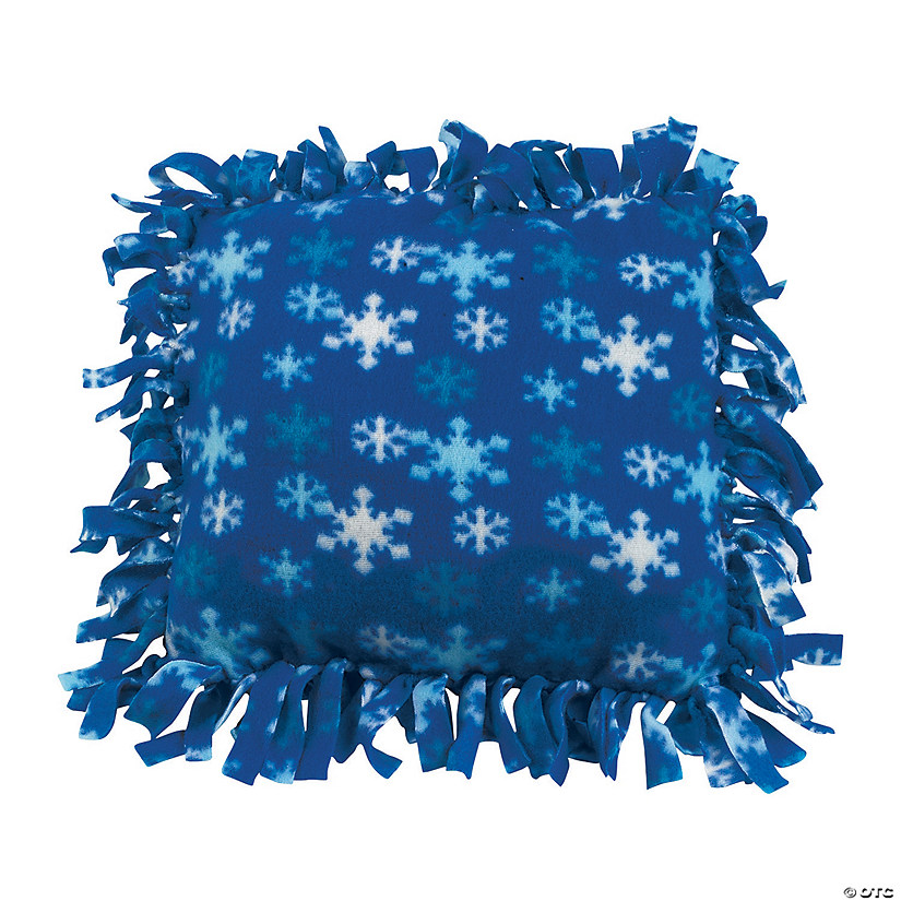 Fleece Winter Tied Pillow Craft Kit Audio Thumbnail