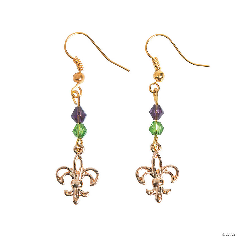Fleur De Lis Wire Earrings Craft Kit Image Thumbnail