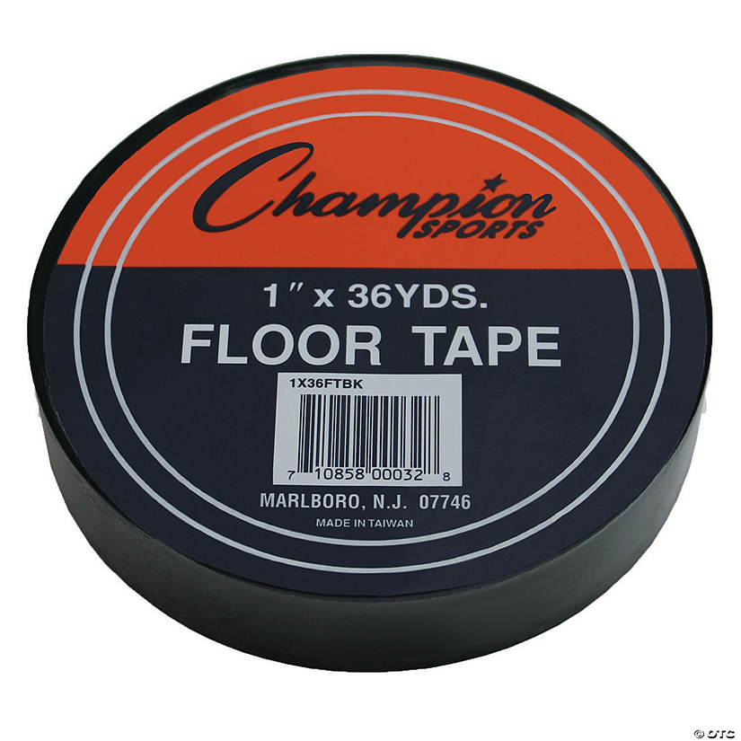 "Floor Marking Tape, 1"" x 36 yd, Black, 6 Rolls"