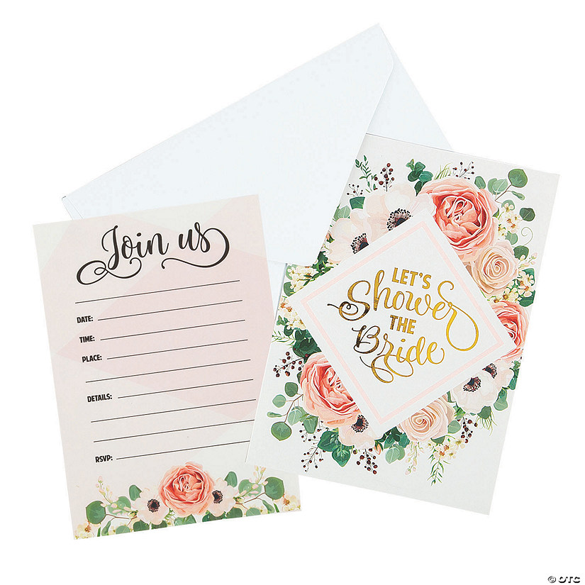 Floral Bridal Shower Invitations Audio Thumbnail