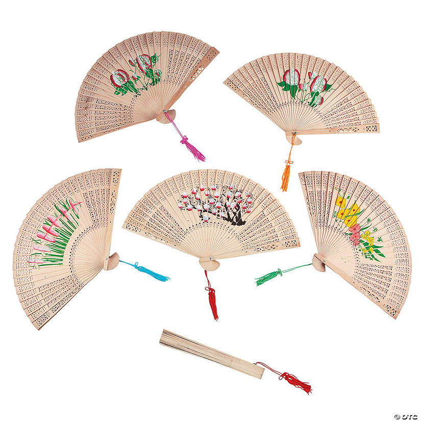 Floral Folding Hand Fans Audio Thumbnail