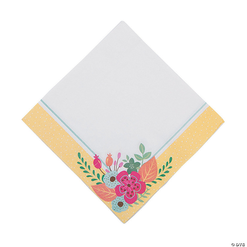 Floral Tea Party Luncheon Napkins Audio Thumbnail