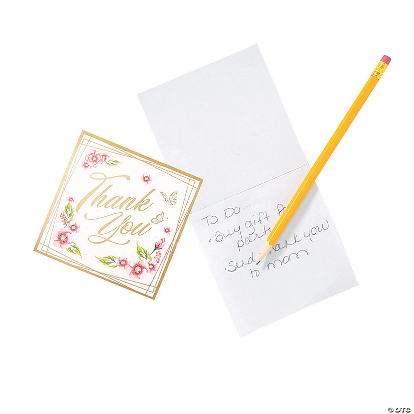 Floral Thank You Notepads Audio Thumbnail