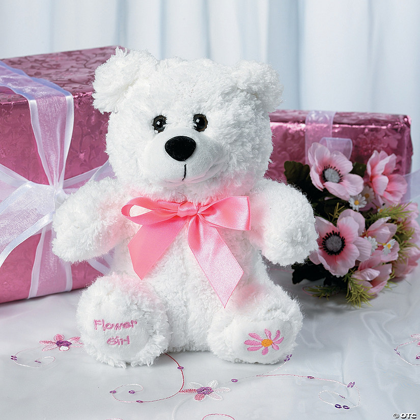 Flower Girl Stuffed Bear Image Thumbnail
