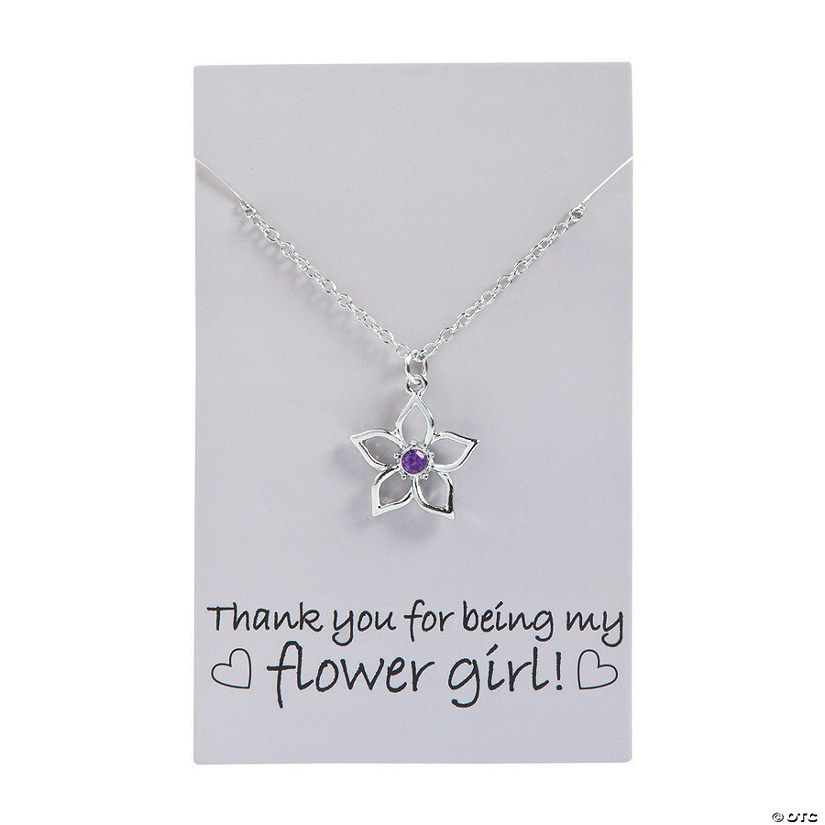 Flower Girl Thank You Necklace Image Thumbnail