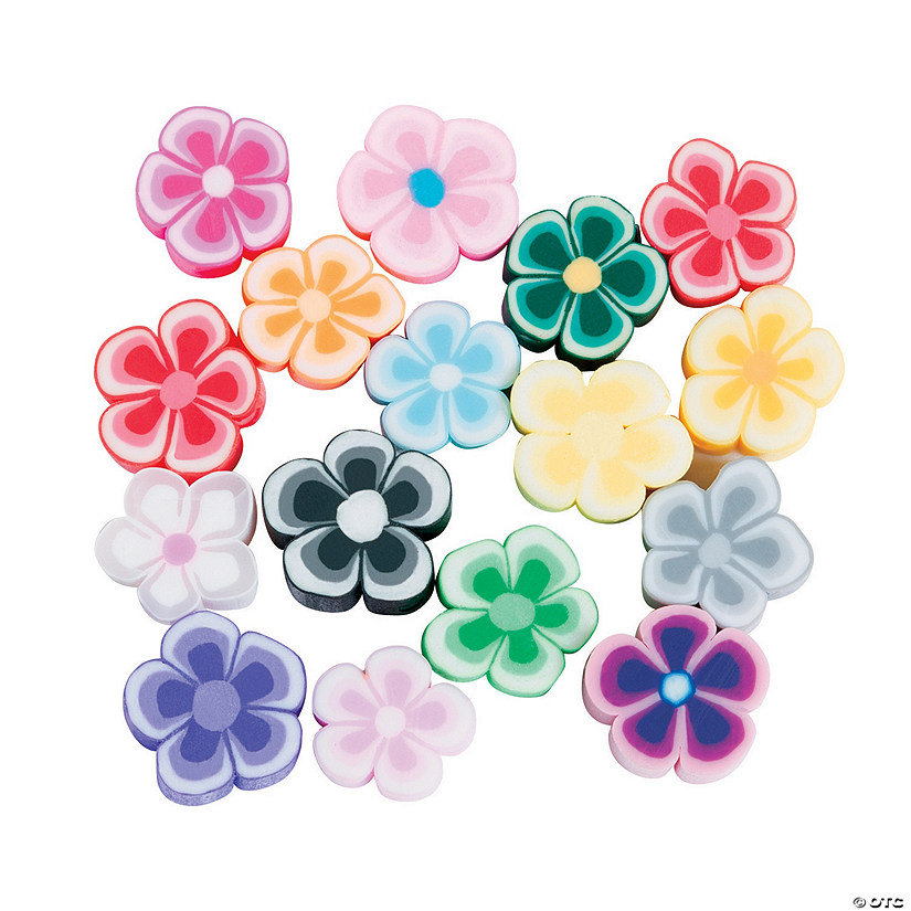 Flower-Shaped Polymer Beads - 8mm