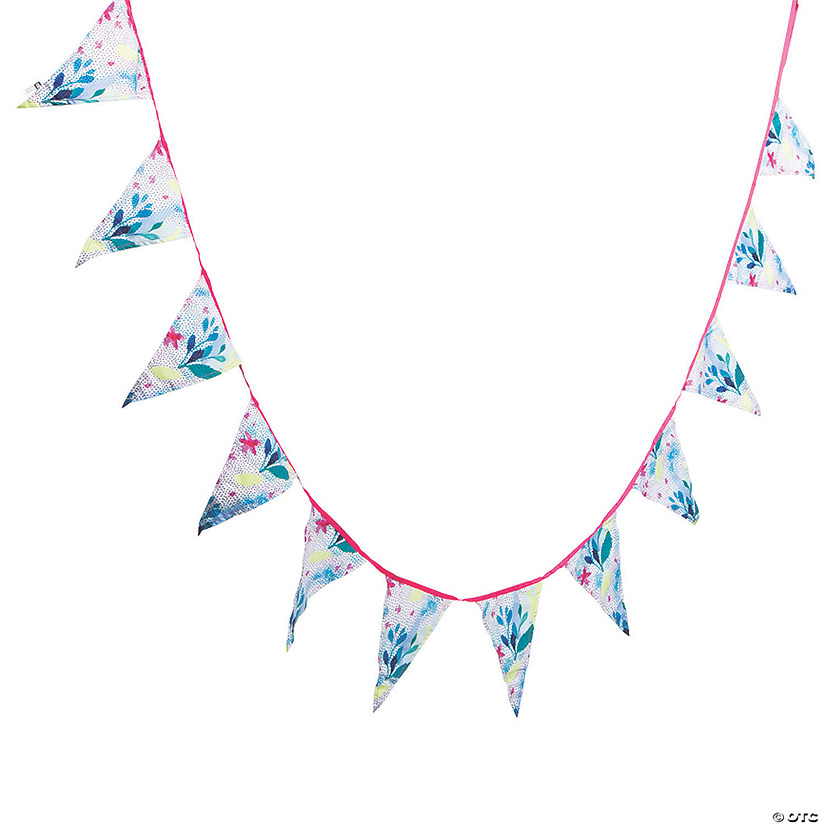 Fluorescent Floral Pennant Banner Audio Thumbnail