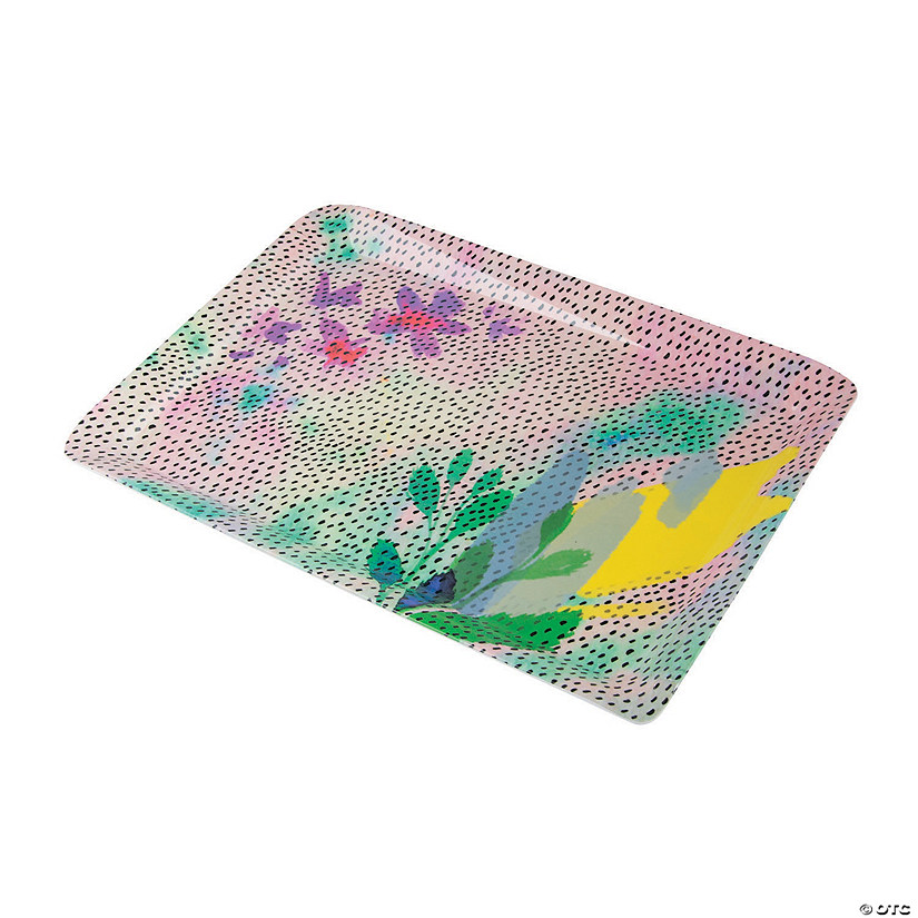 Fluorescent Floral Plastic Tray Audio Thumbnail