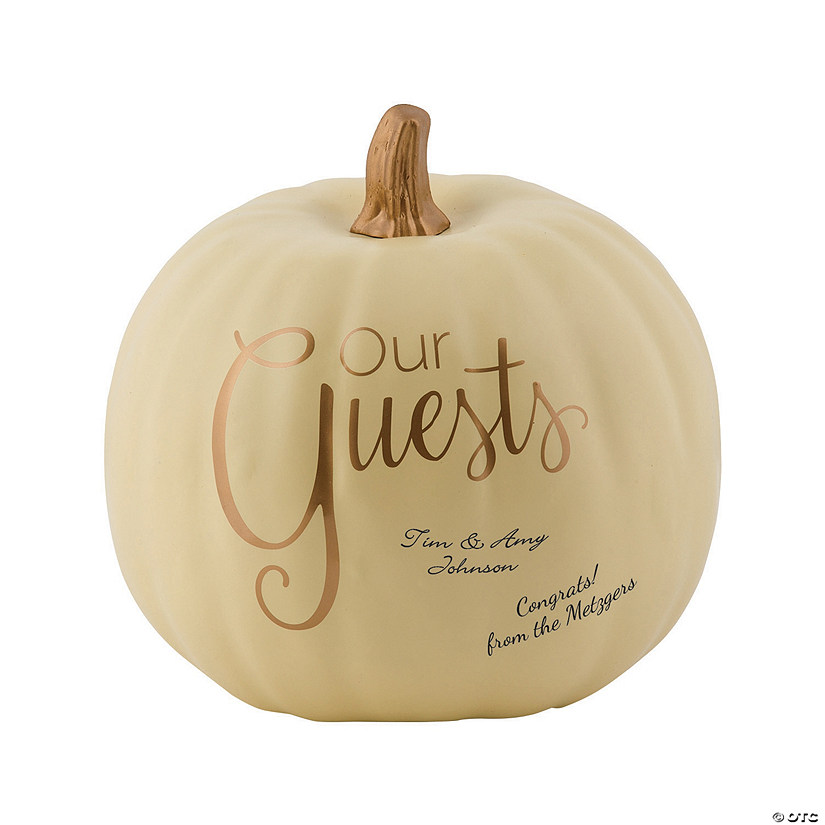 Foam Pumpkin Wedding Guest Book Audio Thumbnail