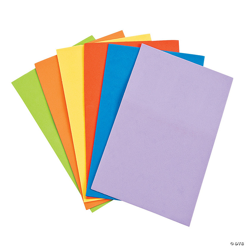 Foam Small Colorful Sheets - Discontinued