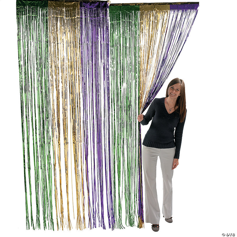 Foil Mardi Gras Fringe Door Curtain Audio Thumbnail