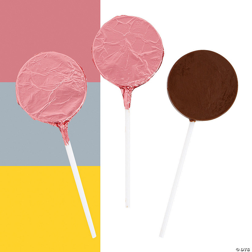 Foil-Wrapped Round Chocolate Lollipops Audio Thumbnail