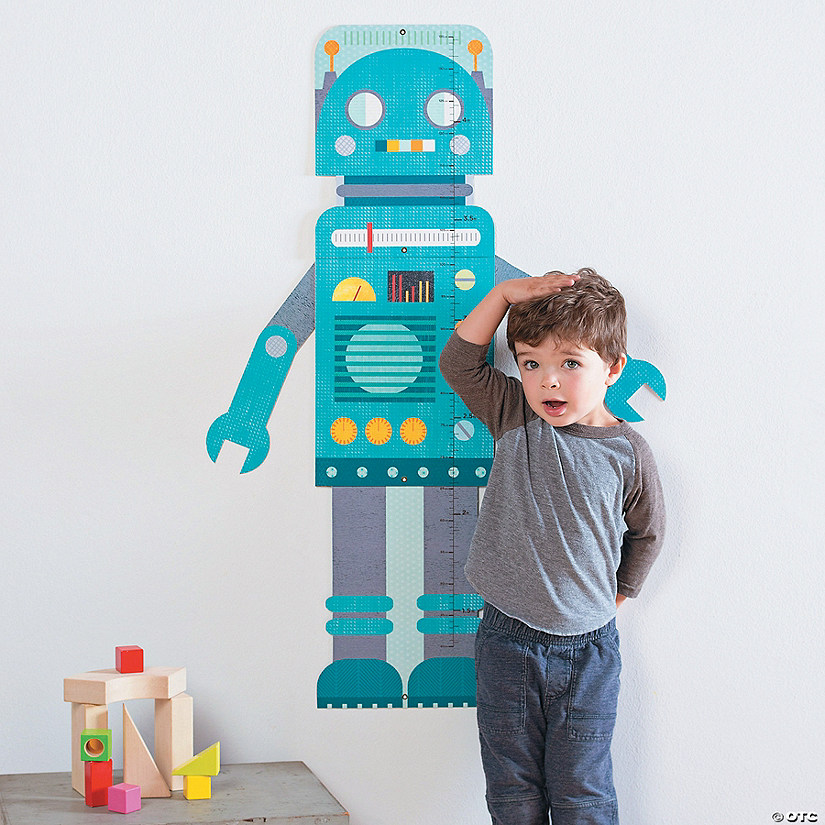 Folding Growth Chart: Blue Robot