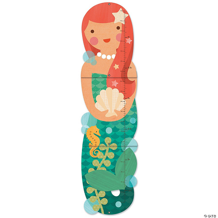 Folding Growth Chart: Little Miss Mermaid