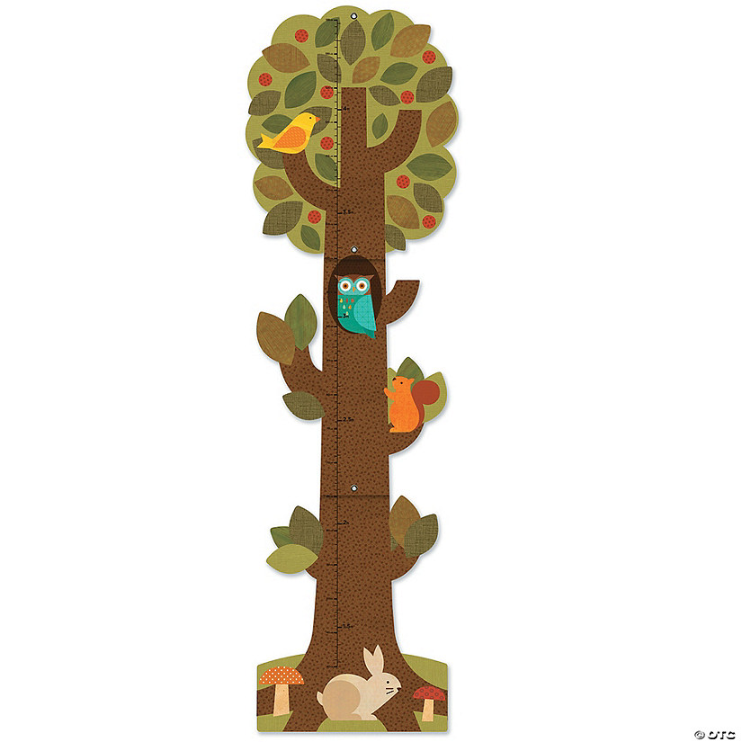 Folding Growth Chart: Tree Friends