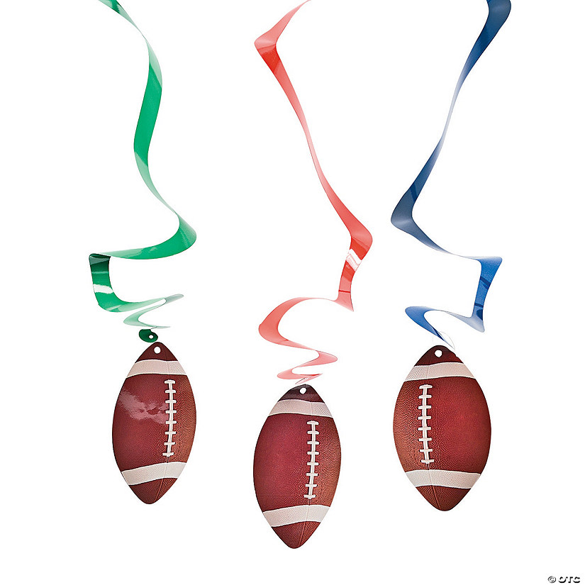 Football Hanging Swirl Decorations - 12 Pc. Audio Thumbnail
