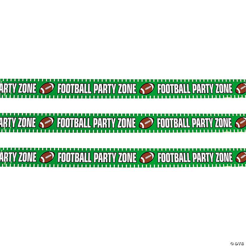 Football Party Zone Plastic Streamer