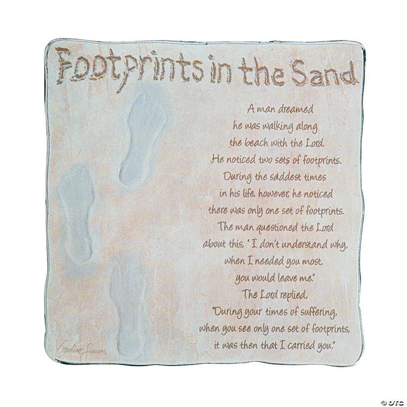 Footprints in the Sand Tabletop Plaque Image Thumbnail
