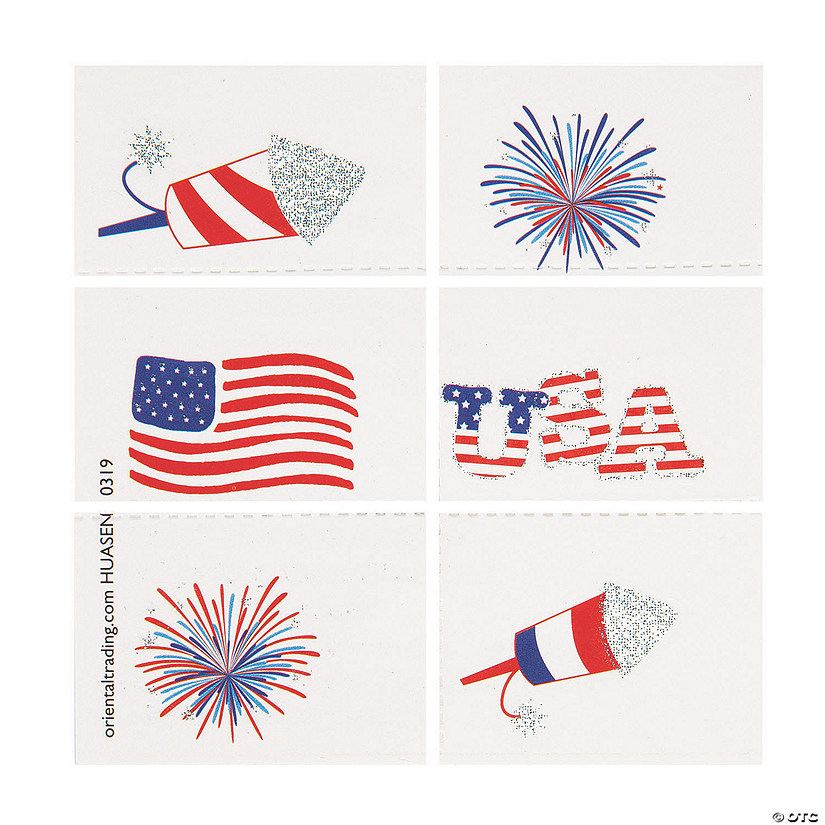 Fourth of July Temporary Tattoos Audio Thumbnail