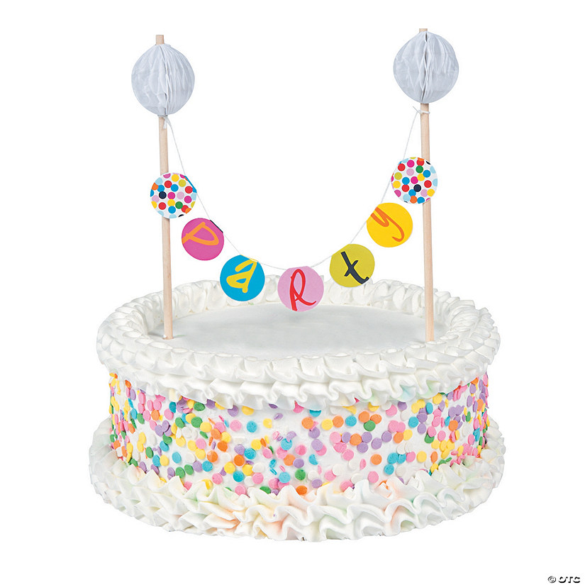 French Bull Birthday Dots Banner Cake Topper13777237