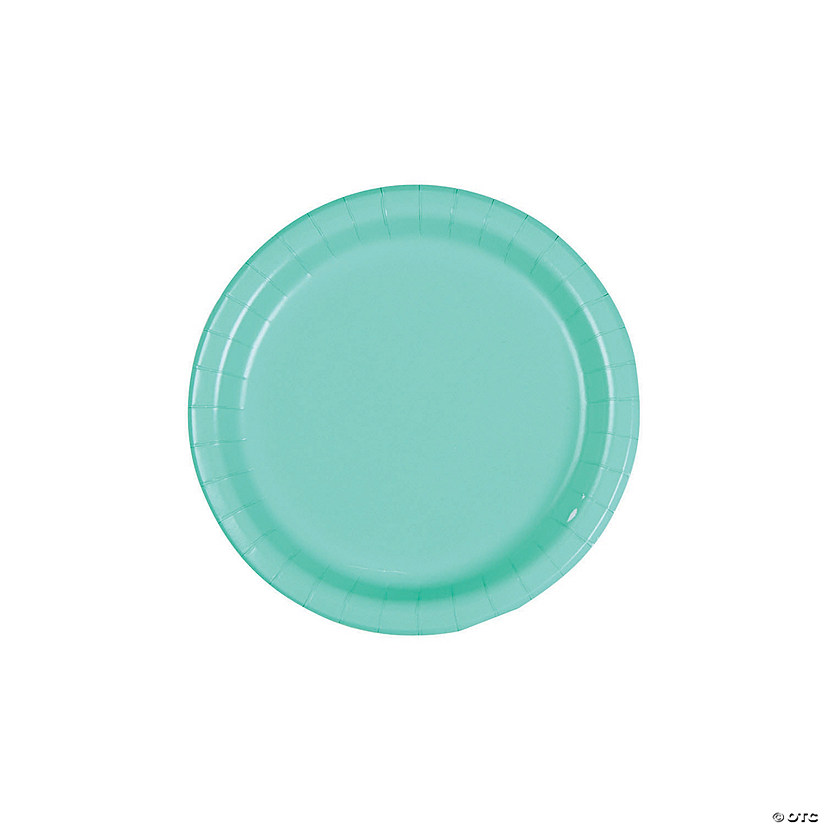 Fresh Mint Green Round Dessert Plates Audio Thumbnail