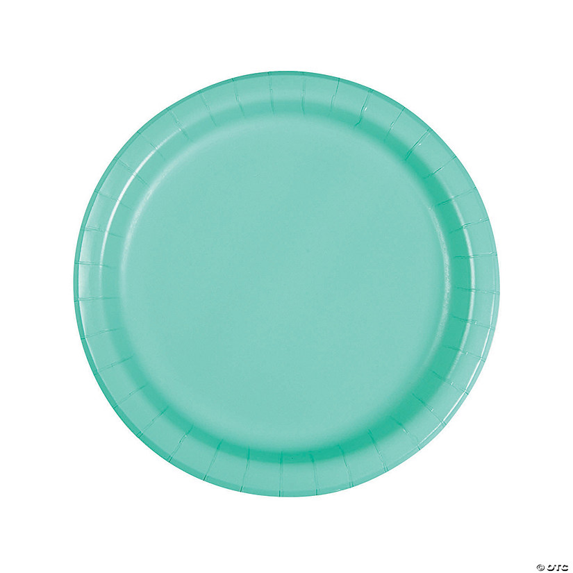 Fresh Mint Green Round Dinner Paper Plates Audio Thumbnail