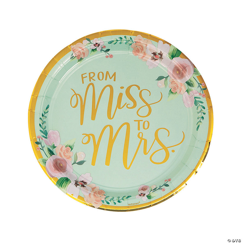 From Miss to Mrs. Paper Dinner Plates Audio Thumbnail