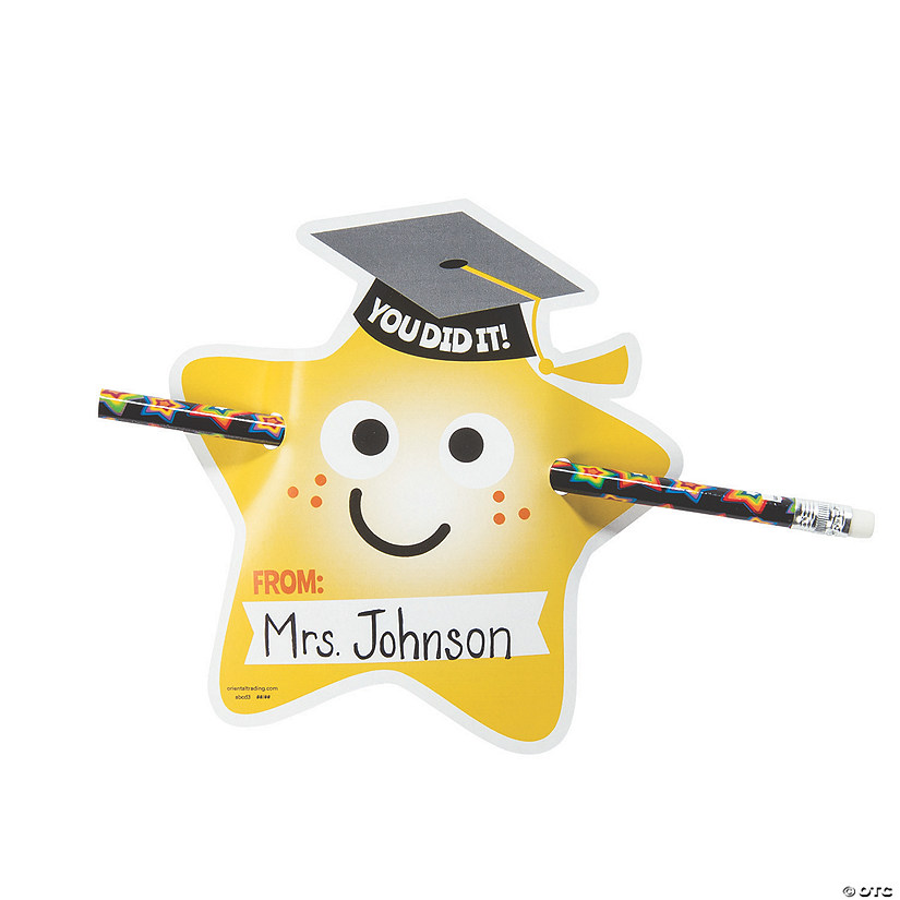 From Your Teacher Graduation Pencil Giveaways with Card - 24 Pc. Image Thumbnail