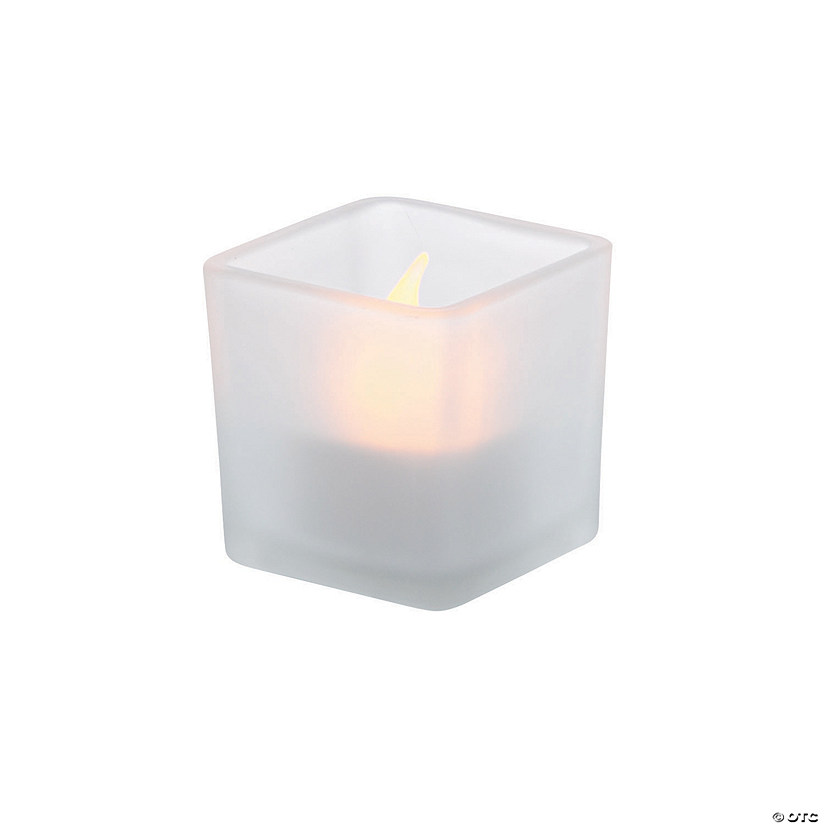 Frosted Square Tealight Holders