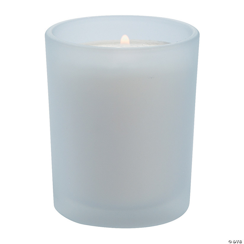 Frosted Wedding Votive Candle Holders - 12 Pc. Audio Thumbnail