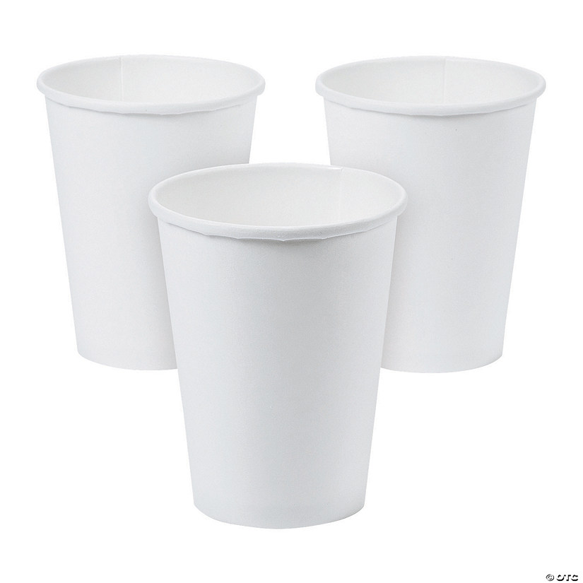 Frosty White Coffee Paper Cups