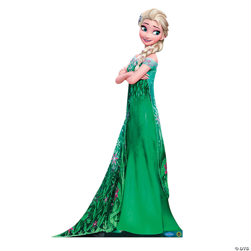 frozen fever elsa hugging cardboard stand up