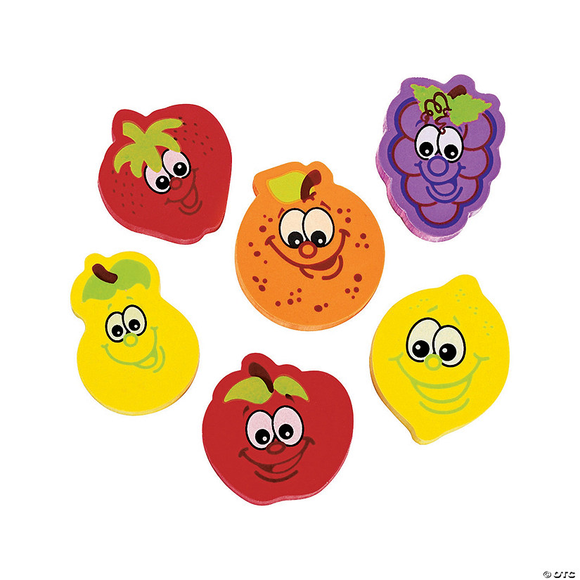 Fruit Character Erasers - 24 Pc. Audio Thumbnail