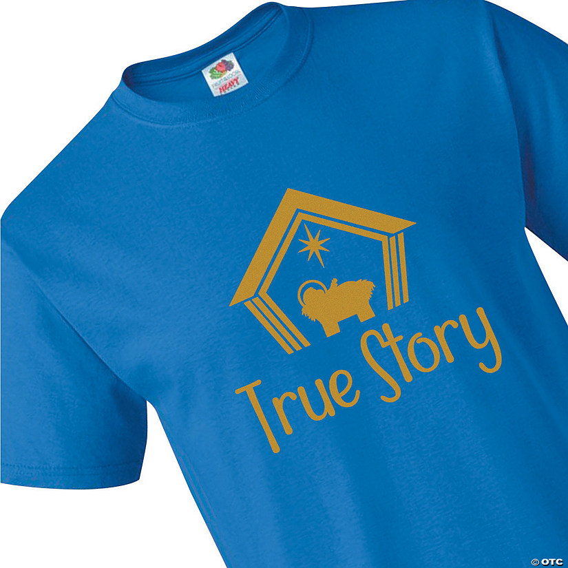 Fruit of the Loom® HD Cotton™ Adult's Short Sleeve True Story Christmas T-Shirt Audio Thumbnail