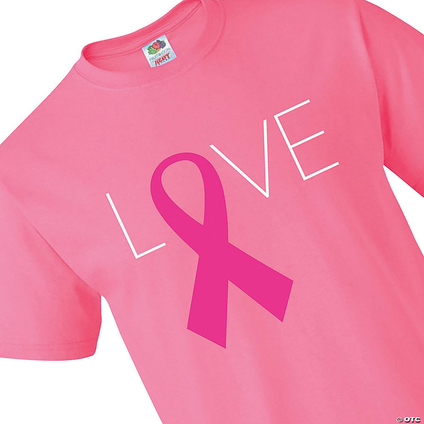 Fruit of the Loom<sup>&#174;</sup> Adult&#8217;s Short Sleeve Pink Ribbon Love T-Shirt Audio Thumbnail