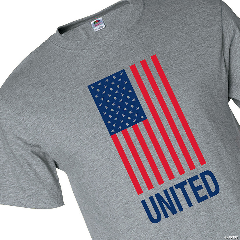 Fruit of the Loom<sup>&#174;</sup> Adult&#39;s United American Flag T-Shirt Audio Thumbnail