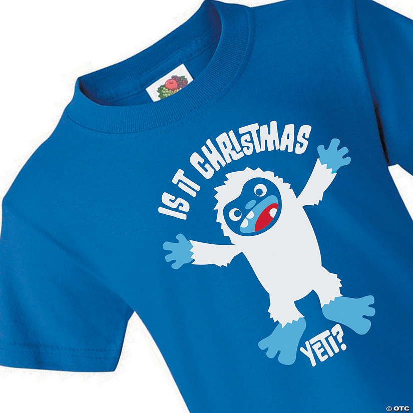 Fruit of the Loom<sup>&#174;</sup> HD Cotton&#8482; Youth Short Sleeve Christmas Yeti T-Shirt Audio Thumbnail